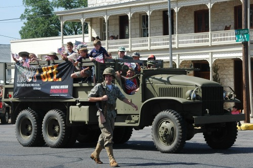 WWII Truck at Independence Day Parade