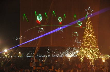 christmas laser show