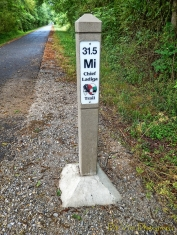 Mile Marker on the Chief Ladiga Trail