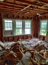 gutted house