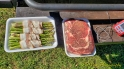 "The ""Stuff"": Bacon-Wrapped Asparagus and a 15-Ounce Ribeye"