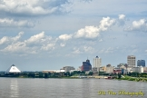 The Pyramid and the Skyline of Downtown Memphis