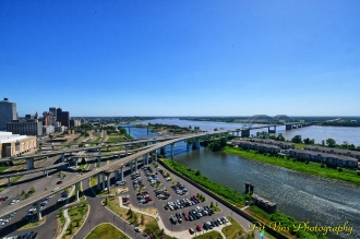 Memphis from Above: Overpasses, Mississippi, MudIsland, and Wolf River Harbour