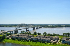 Memphis from Above: Mississippi, Bridges, and Mud Island