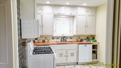 Cabinets, Sink, Countertop, and Appliances