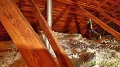 Attic Views: Ducts and Insulation, w/ the Furnace [Nearly totally Covered] in the Background
