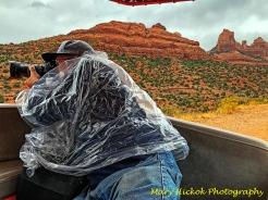 photographer in the rain