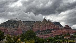 Red Rocks in Rain