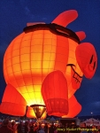 hot air balloons nightglow