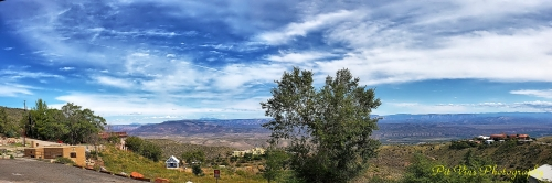 Jerome/AZ: View across the Verde River Valley
